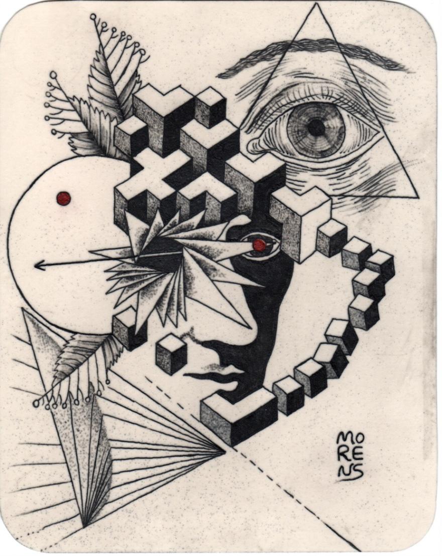Morena Regaiolli, Tattoo auf Linoleum (Deutschland)