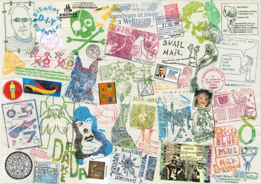 Ryosuke Cohen, Stempel-Collage (Japan)