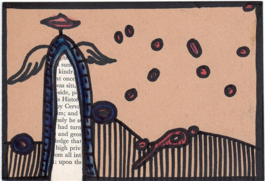 Robert Znajomski, Zeichnung und Collage (Polen)